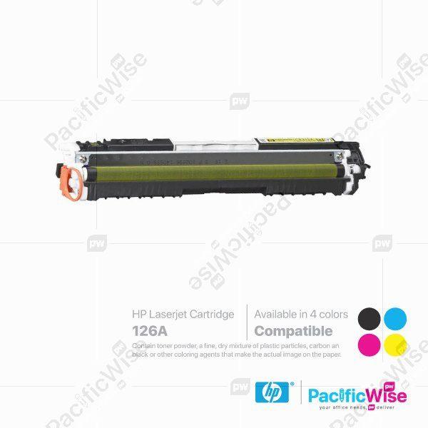 HP 126A LaserJet Toner Cartridge CE310A ~ CE313A (Compatible)