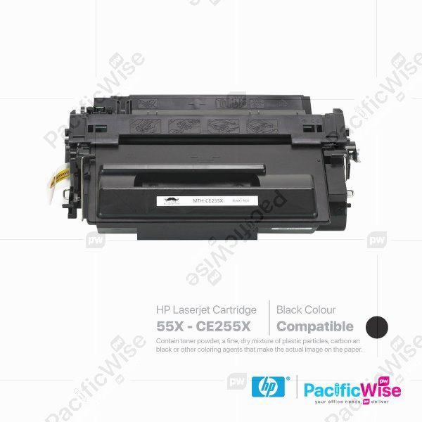 HP 55X LaserJet Toner Cartridge CE255X (Compatible)