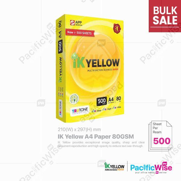 Indah Kiat/IK Yellow A4 Paper/A4 Kertas 80gsm/Copier Paper (500's/Ream)