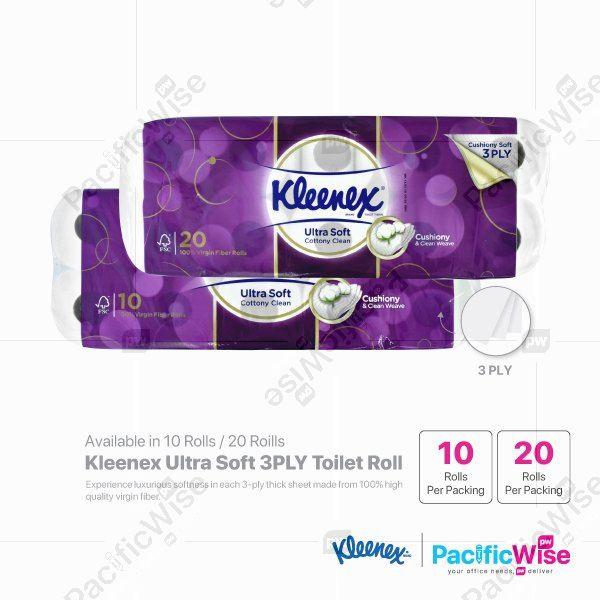 Kleenex Ultra Soft 3PLY Toilet Roll