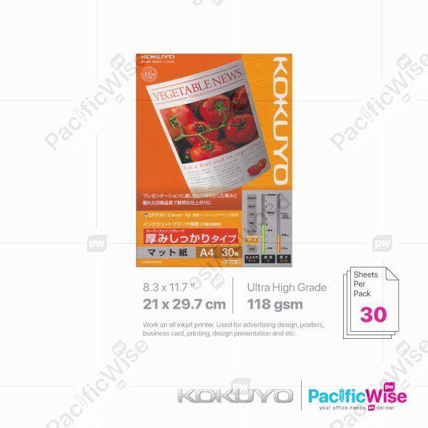 Kokuyo A4 Inkjet Paper Ultra High Grade 118GSM (30'S)