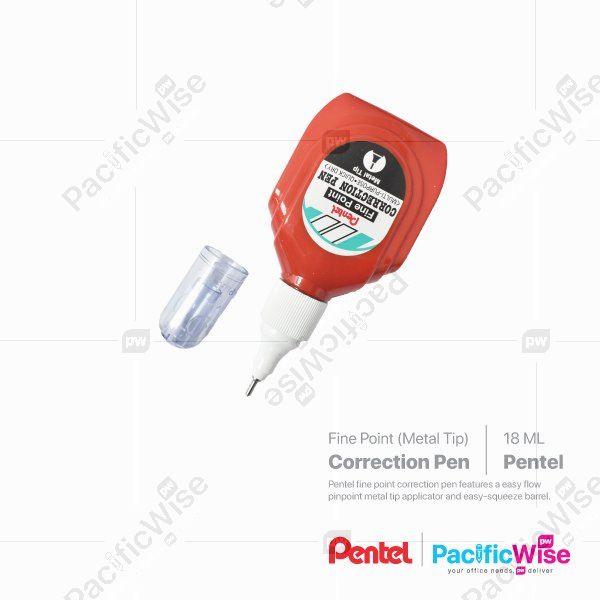 Pentel/Correction Pen/Pen Pembetulan/Writing Pen/ZL1S6-W/18ml (Fine Point)