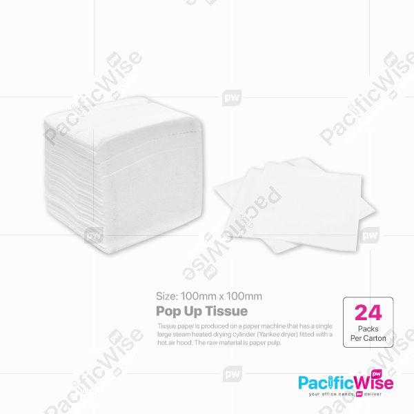 POP UP Tissue Size: 100mmx100mm (1ply)