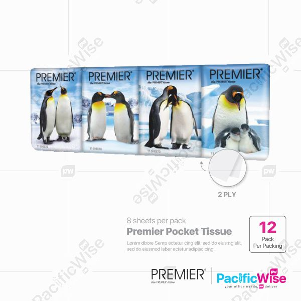 Premier Pocket Tissue (12 Pack)