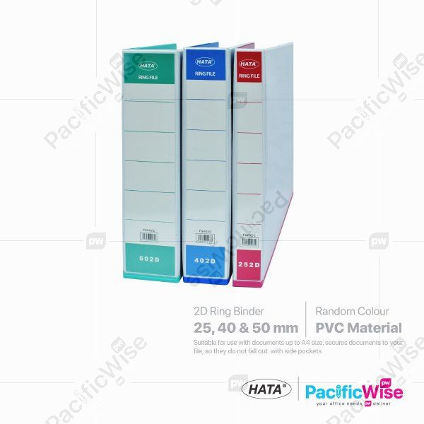 Hata 2D Ring File PVC Colour