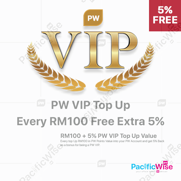 PW VIP Top Up Value (FREE Additional 5%)