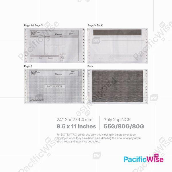 Ready Made Design2 Payslip Mailer/Payslip Advice/Mailer Payslip 2 Up 9.5