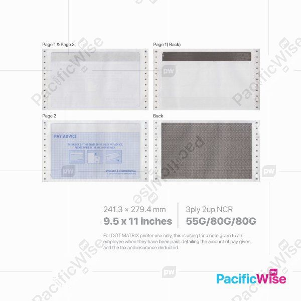 Ready Made Standard Payslip Mailer 2 Up 9.5