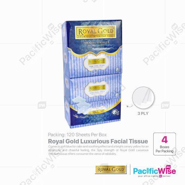 Royal Gold Luxurious Facial Tissue (4 Box x 120 Sheet)