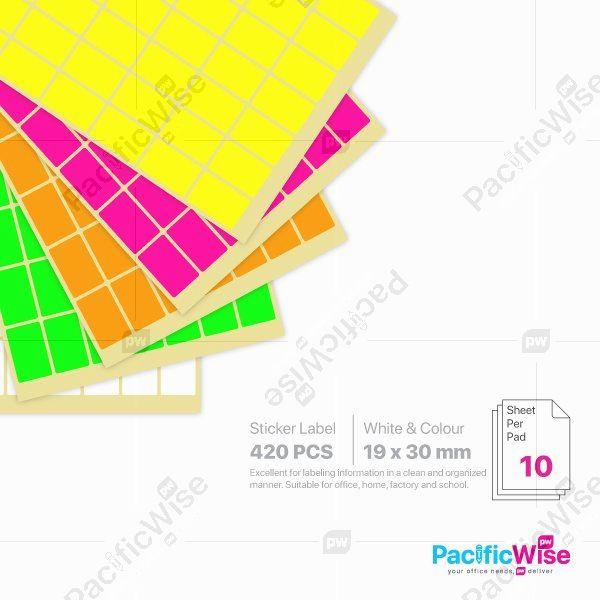 Rectangle Sticker Label/Label Pelekat Segi Empat/Sticker Label/19mm x 30mm