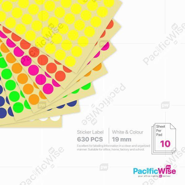 Round Sticker Label/Label Pelekat Bulat/Sticker Label/19mm