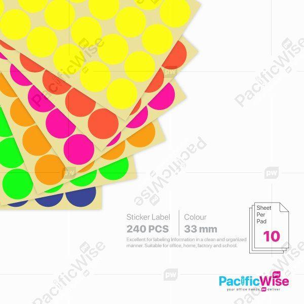 Round Sticker Label 33mm