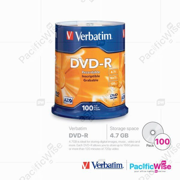 Verbatim DVD-R 4.7GB (100'S/Spindle)