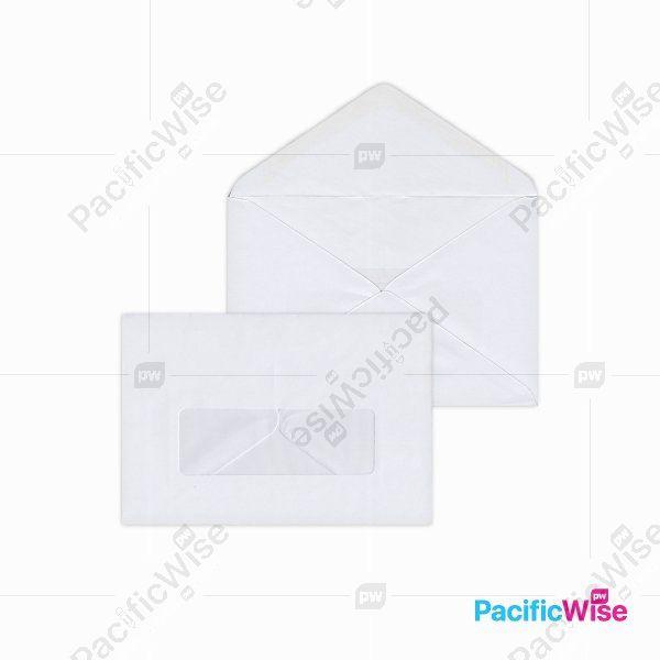 White Envelope (Window)/Sampul Surat Putih (Tetingkap)/Envelope/6 1/4