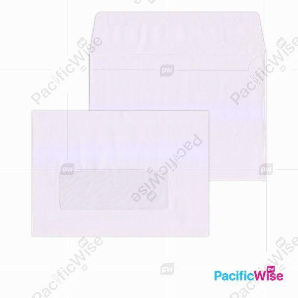 White Envelope (Window) 6 3/8