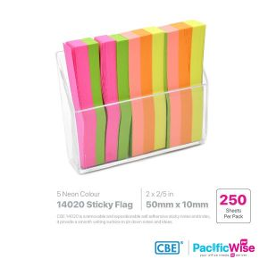 CBE Removable Sticky Flag 14020 (5 Neon Colour)