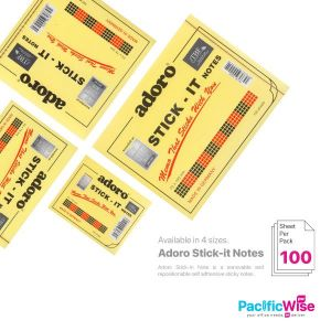 Adoro Removable Stick-it Note (Yellow)