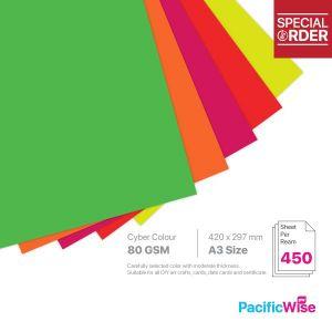A3 Colour Paper 80GSM Fluorecent Colour (450'S)