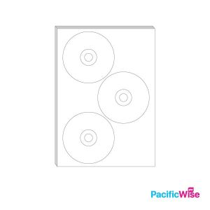 A4/Simili Sticker Label Round Shape/Bentuk Bulat Label Pelekat/Sticker Label/115mm-41mm-15mm (100'S)