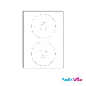 A4/Simili Sticker Label Round Shape/Bentuk Bulat Label Pelekat/Sticker Label/118mm-41mm-15mm (100'S)