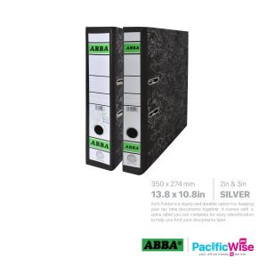 ABBA Lever Arch File Silver