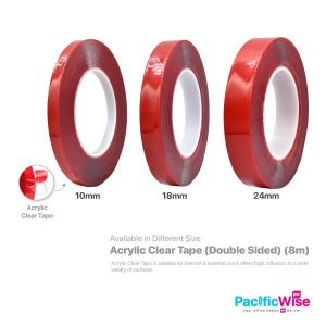 Acrylic Clear Tape (Double Sided) (8m)