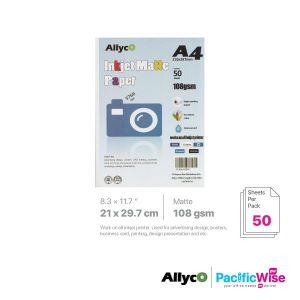 Allyco A4 Inkjet Paper Matte 108GSM (50'S)