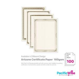 Artzone/Certificate Paper W/O Common Seal/Kertas Sijil Tanpa Meterai Umum 160gsm/Certificate Paper (100'S)