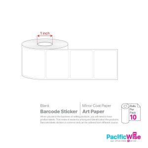 Blank Barcode Sticker Art Paper (10rolls)