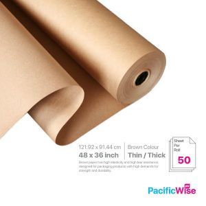 """Brown Paper/Kertas Coklat/Paper Packing Material/36"""" x 48"""" (50'S)"""