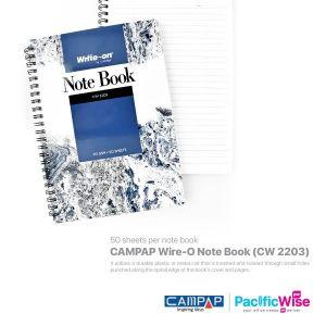 CAMPAP Wire-O Note Book (CW 2203)