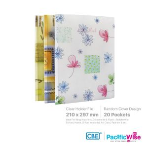 CBE Clear Holder Files Floral Series