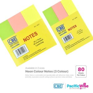 CBE Removable Sticky Note 14026~14027 (3 Neon Colour)