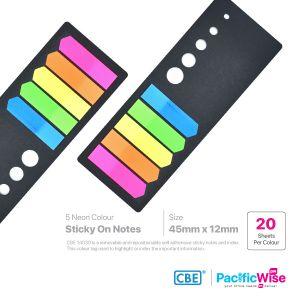 CBE Removable Sticky Flag 14030 (5 Neon Colour)