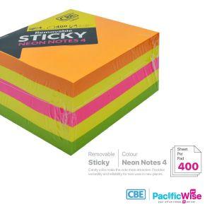 CBE Removable Sticky Note 14037 (4 Neon Colour)