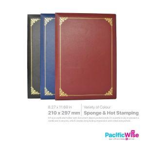 Certificate Holder PVC With Sponge & Hot Stamping/PVC Pemegang Perakuan Span & Setem Panas/CH8C-HS
