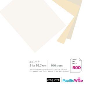 Conqueror Laid Paper 100GSM A4 Size (500'S)