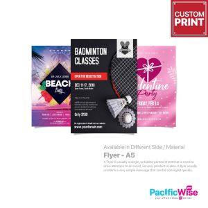 Customized Digital Printing Flyer (A5)