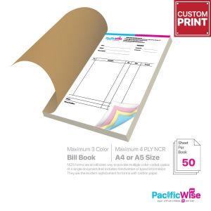 Customized Printing Bill Book