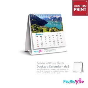 Customized Printing Mini Desktop Calendar (DC2 Soft Stand)