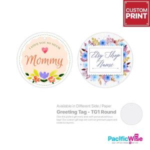 Customized Printing Greeting Tag (TG1-Round)