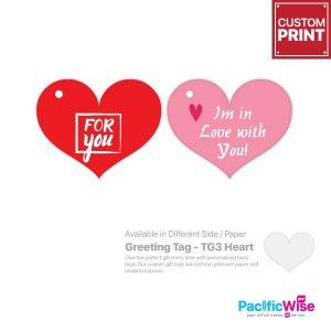 Customized Printing Greeting Tag (TG3-Heart)