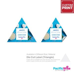 Customized Printing Die Cut Label (Triangle)