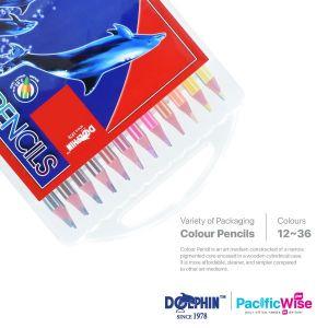 Dolphin/Colour Pencil/Pensil Warna/Colouring (12Pcs/Box)
