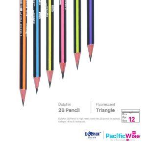 Dolphin 2B Pencil Triangle Fluorescent Colour (12'S)