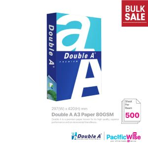 Double A A3 Paper 80GSM (500'S)