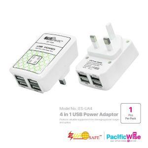 EUROSAFE 4 in 1 USB Power Adaptor 10W ES-UA4