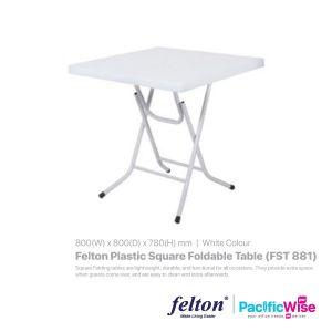 Felton Plastic Square Foldable Table (FST 881)
