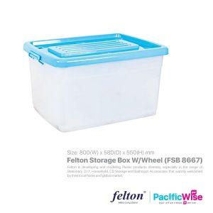 Felton Storage Box W/Wheel (FSB 8667)