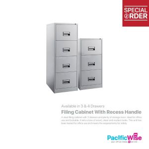 Filing Cabinet With Recess Handle
